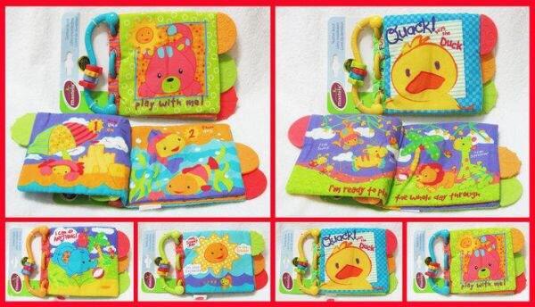 alat / mainan stimulasi / rattle / softbook / teether