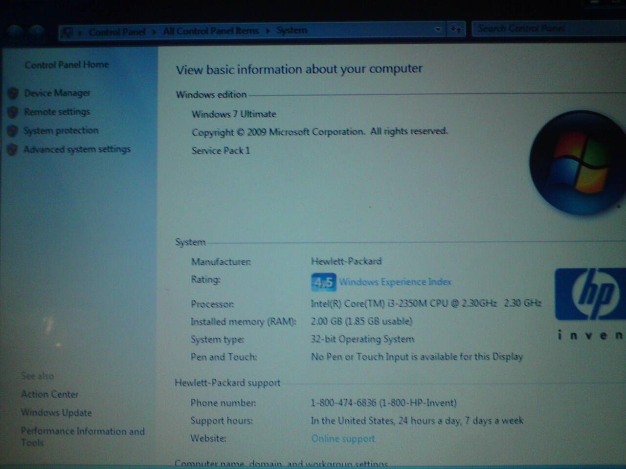 Jual Laptop HP-430 core I3 2.30ghz