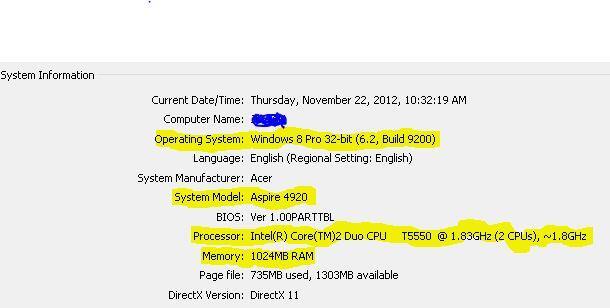 Acer Aspire 4920