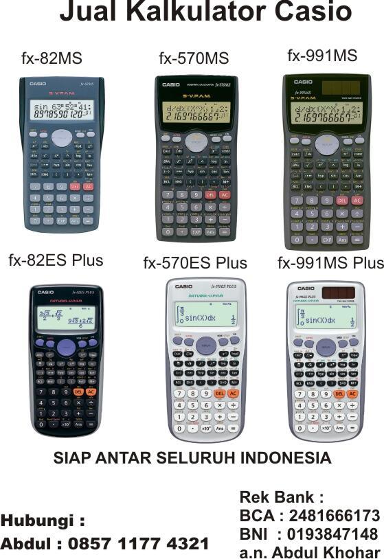 Jual Kalkulator CASIO Original 991 MS dan 991 ESPlus