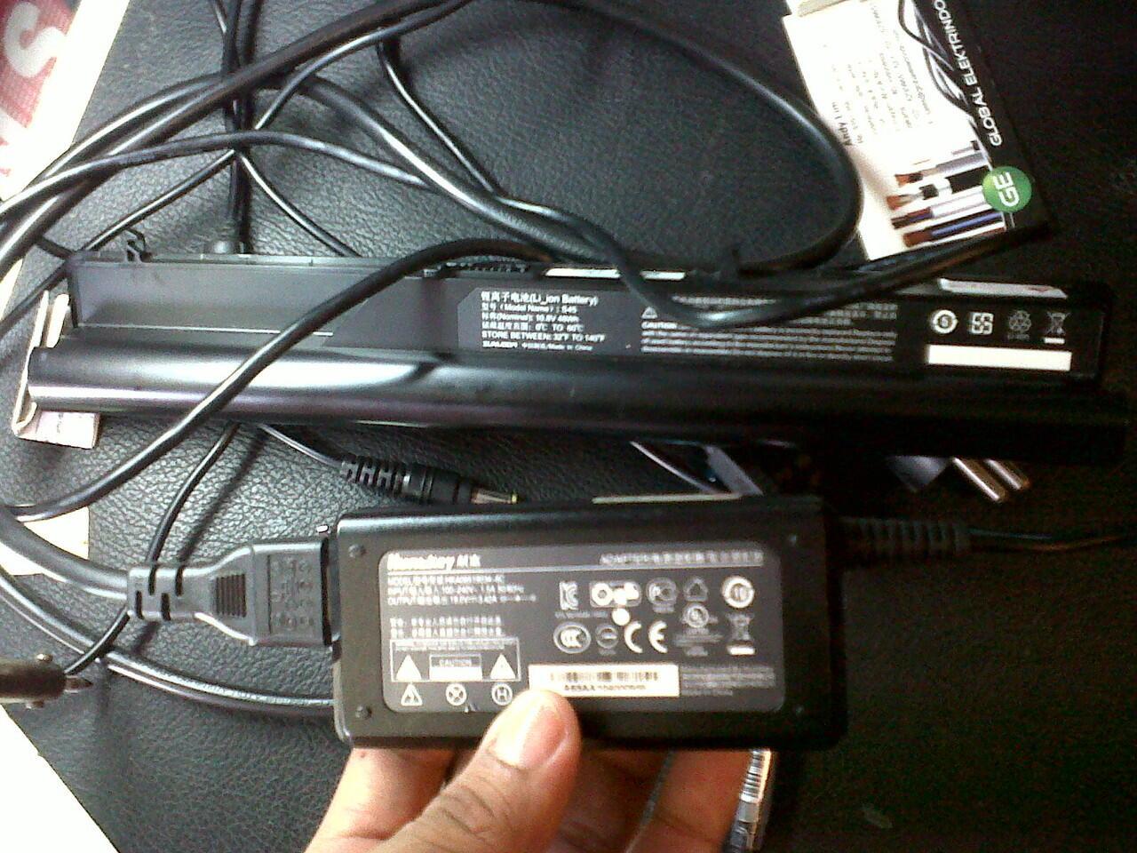 Batrai + Charger Axioo CNC core i3