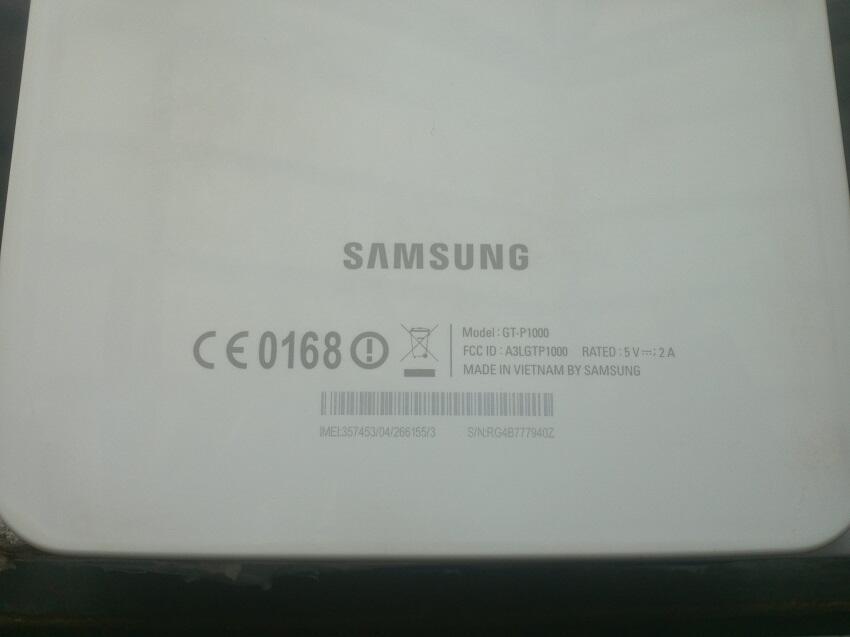 Samsung Galaxy Tab P1000 16GB 3G + Wifi Lengkap Ex Garansi Resmi SEIN Mulus