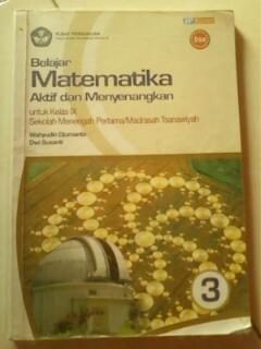 Buku Matematika BSE untuk kelas 9 SMP