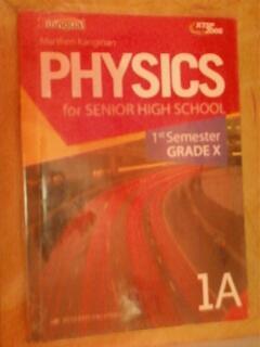 Buku Fisika bilingual kelas 10 SMA semester 1