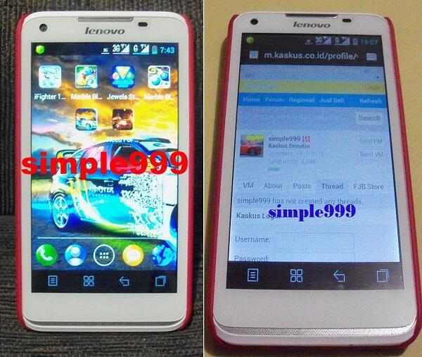 "Android 5"" ICS Lenovo S-880 Garansi Panjang Global Teleshop Bonus Nilkin [Cendol]"