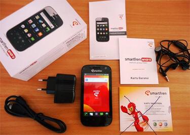 Smartfren Andro + Microsd Team 16gb class10 + Card Reader + AntiGores + Sarung Kulit