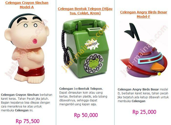 Celengan ATM Mini, CelenganKaret Angry Bird, Doreamon, Rilakuma, Princess MURAH