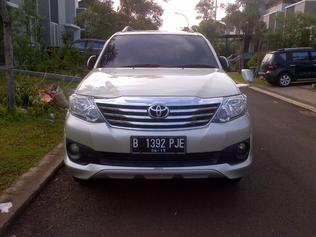 dijual toyota grand new fortuner TRD diesel 2012