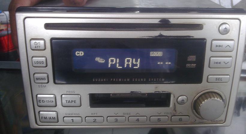 Tape Mobil Double Din JVC KW-XC888 (Single Disc & Kaset Radio) mulus & masih segel