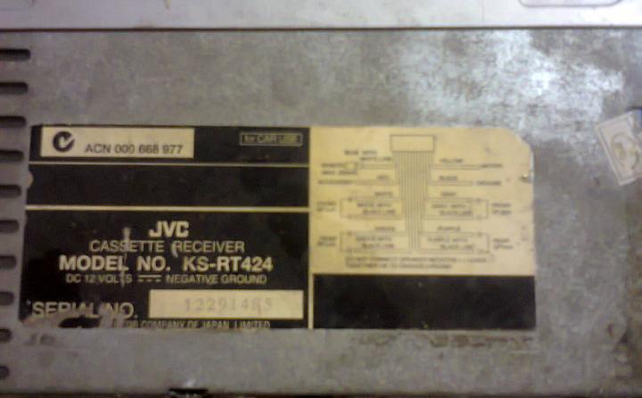 Tape mobil JVC seri KS-RT424 (Kaset Radio) murah