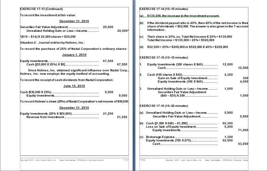 Terjual Kunci Jawaban Intermediate Accounting Kieso Ifrs Edition Akunt Keuangan Menengah Kaskus