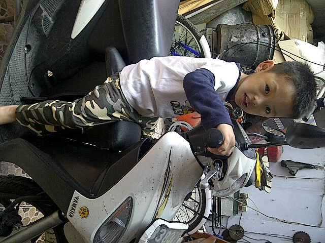aksesoris motor matic tempat duduk buat anak