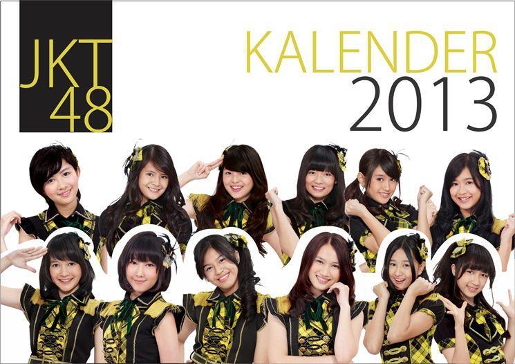 PRE ORDER - Klaender Meja 2013 JKT48 dan Klu b Bola [AC Milan, Madrid, Barca, MU dll]