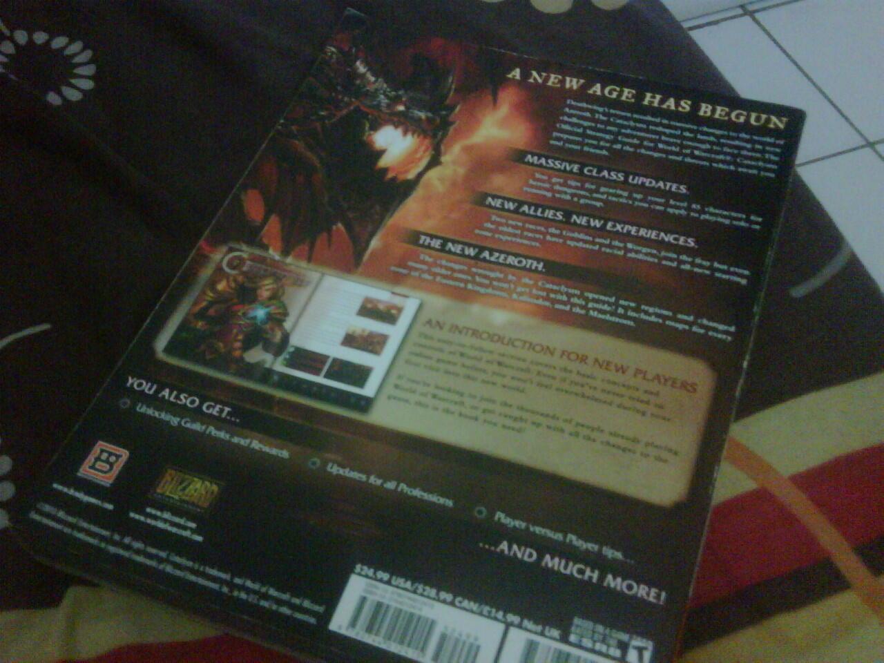 J> Buku World of Warcraft (Cataclycsm) 600K nego ,Jual fast..