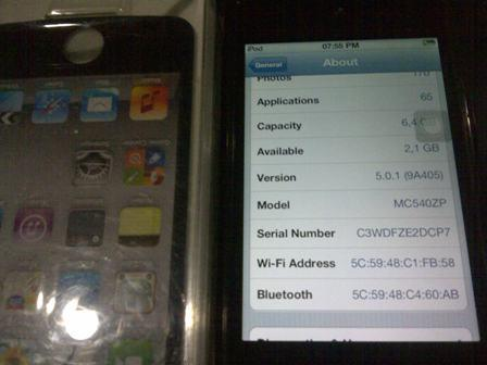 itouch 4gen 8gb black second mulus