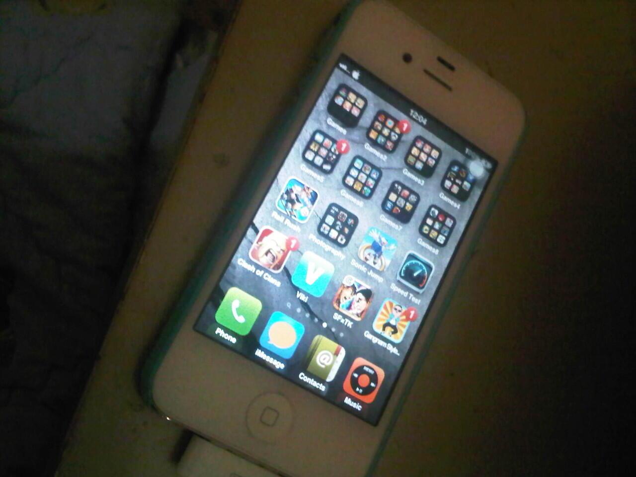 iphone 4S white 16gb mulus 100% , baru 2bulan... MURAH!! jakarta..