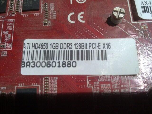 vga ati radeon DA HD 4650 ddr3 1gb bandung