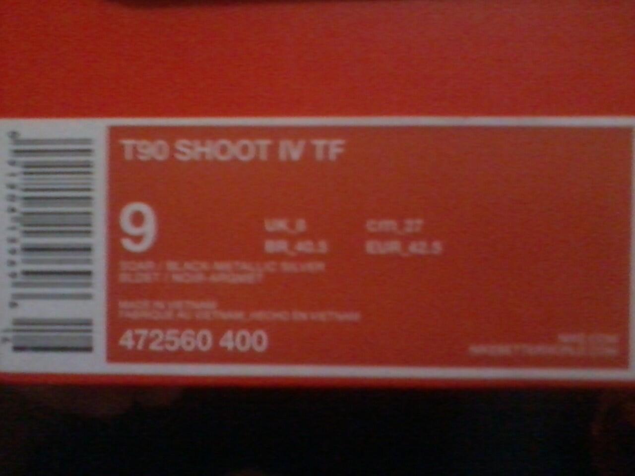 JualRugi SepatuFutsal T90 SHOOT IV TF (NEGO TIPIS)