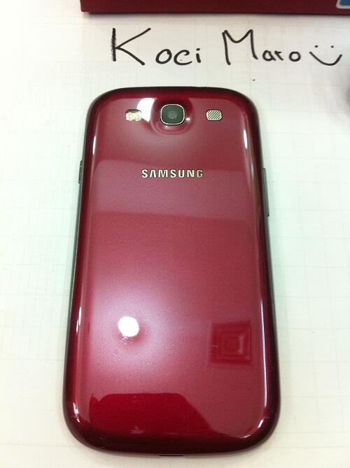 samsung galaxy s3 gt-i9300 garnet red garansi luar(malaysia) like new
