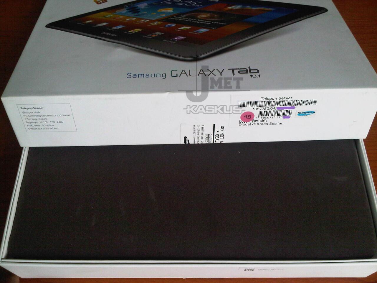 Samsung Galaxy Tab 10.1 3G P7500 Pure White | Kondisi mulus abisssss 98%