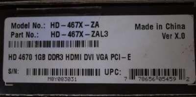 Vga xfx ati radeon hd4670 1gb ddr3 128bit pc-e