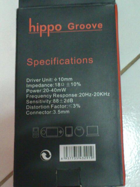 Jual Earphone Hippo Groove Second