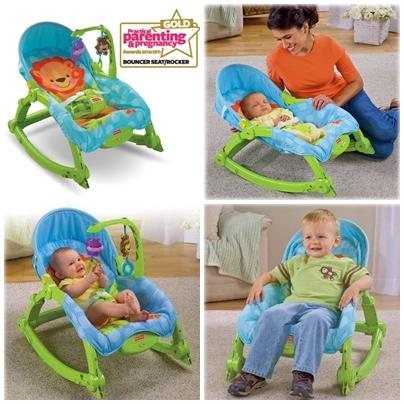 Fisher Price New Born to Toddler Portable Rocker Green