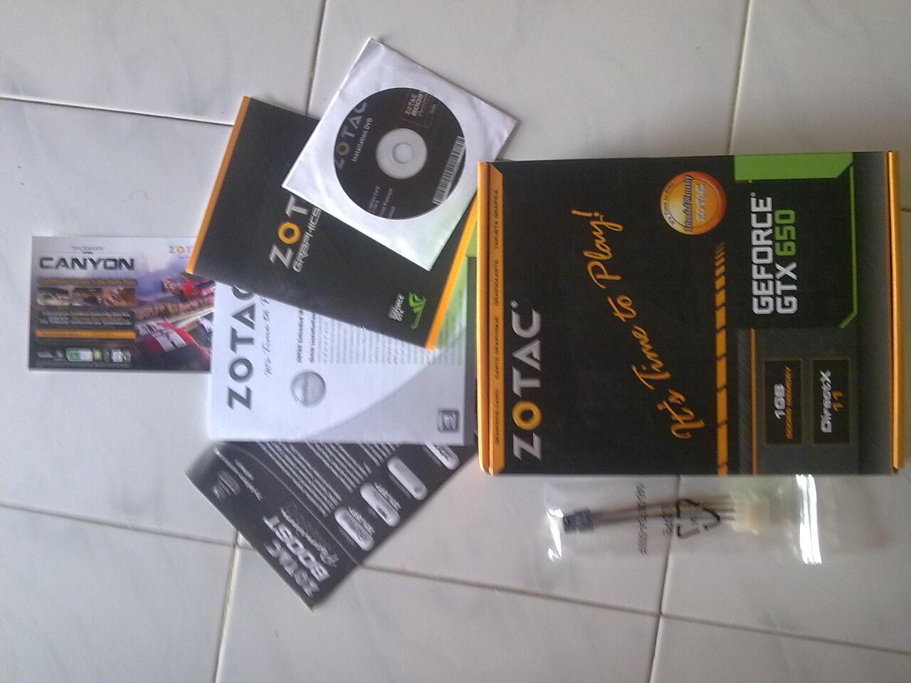 ZOTAC GTX 650 1G DDR5 128 BIT