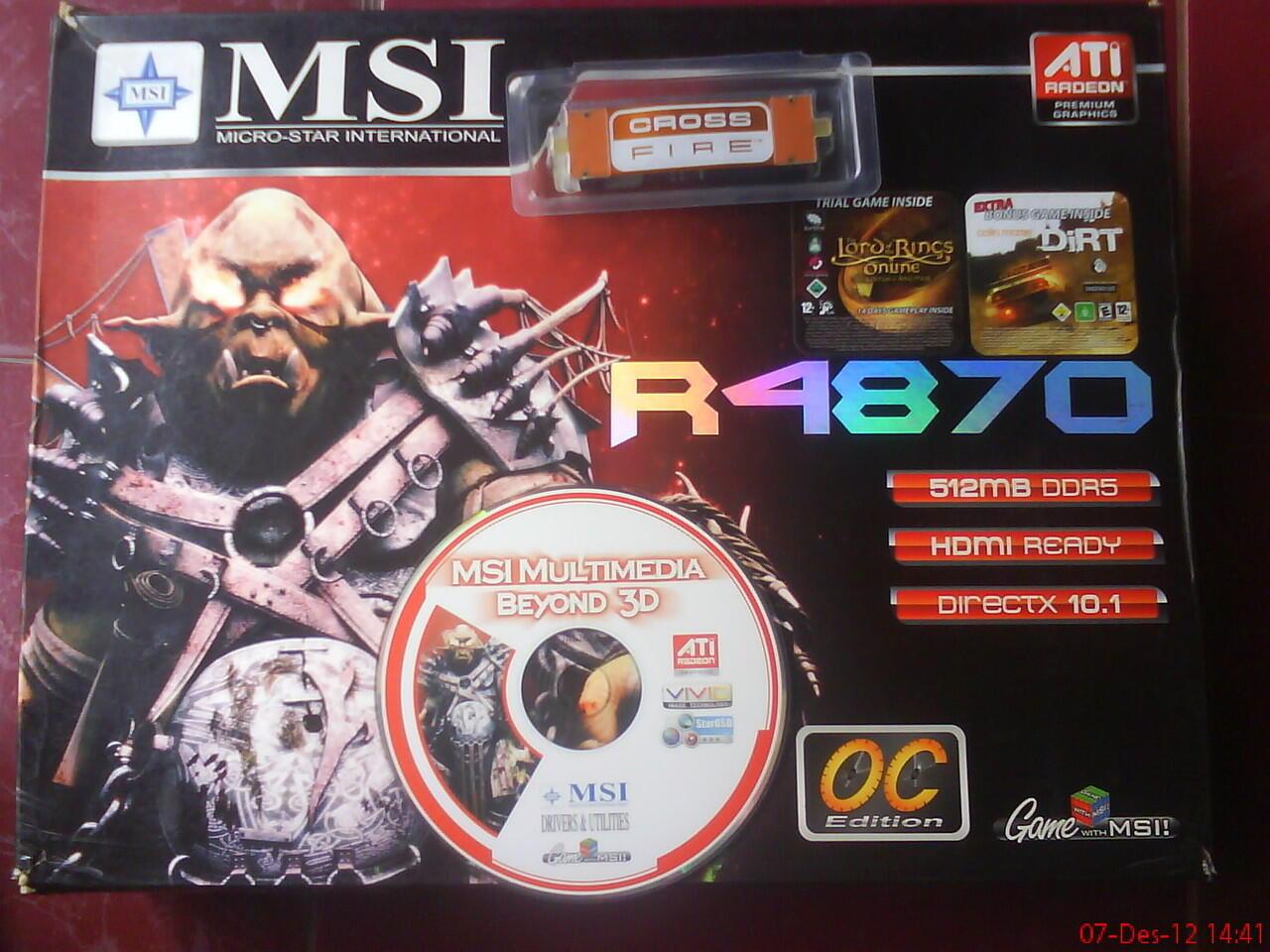 Di Jual VGA/GPU ATI Radeon R4870 T2D512