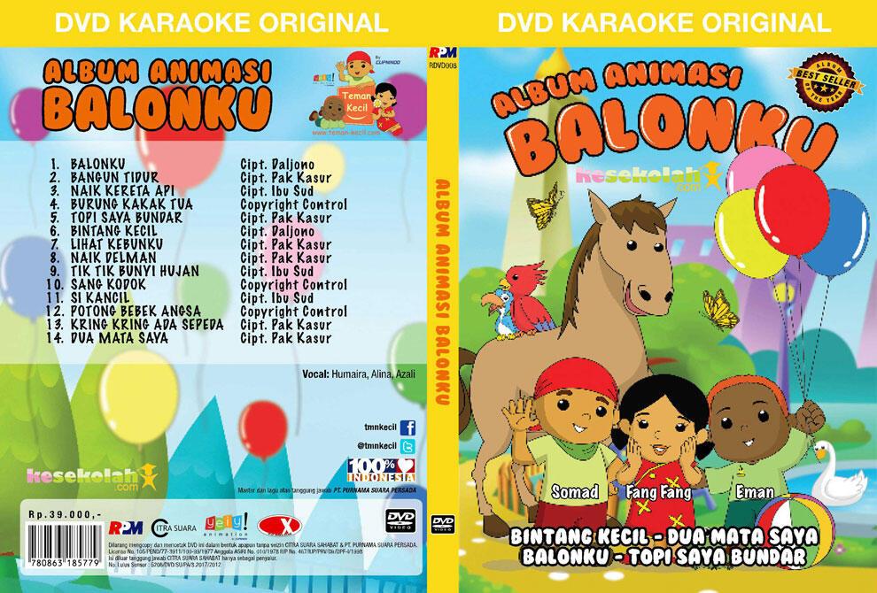 Album dvd original animasi balonku