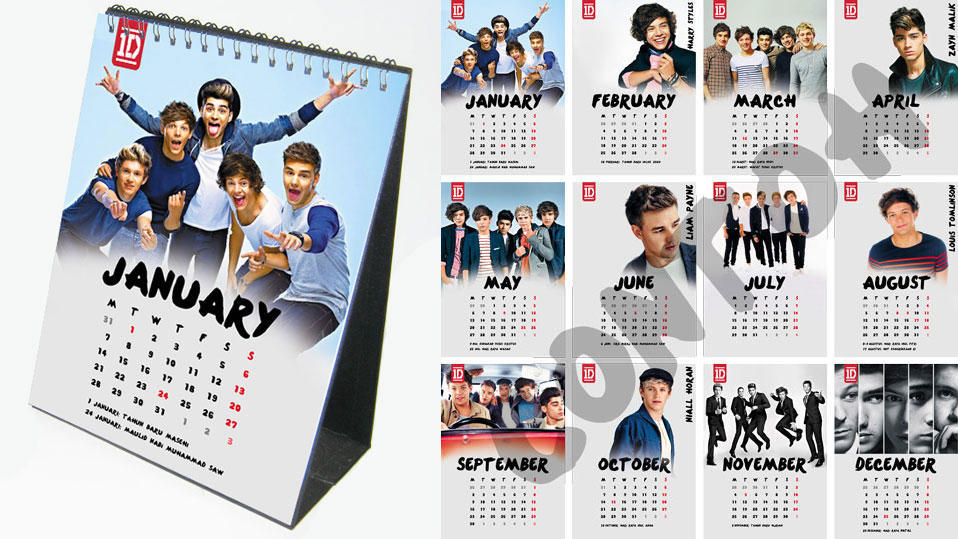 PO Kalender One Direction (1D) 2013