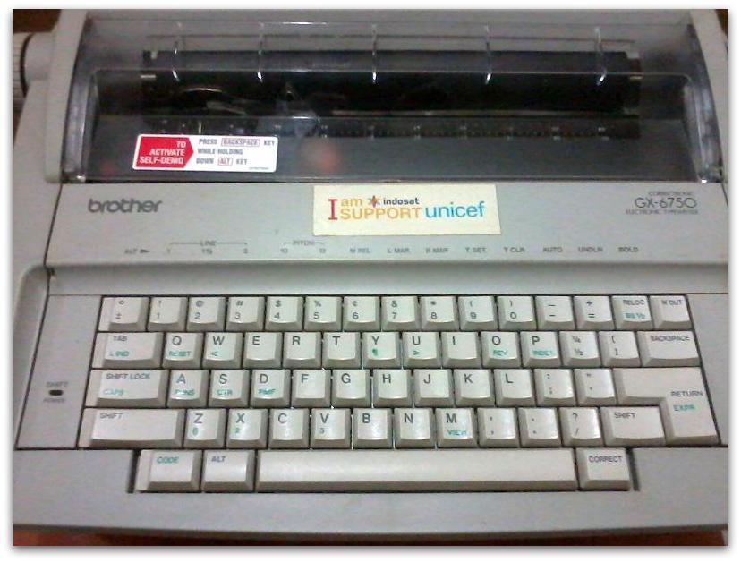 MESIN TIK BROTHER GX-6750, TEL/FAX PANASONIC KX-FT907, DLL EX KANTOR, 95%+, JAKARTA