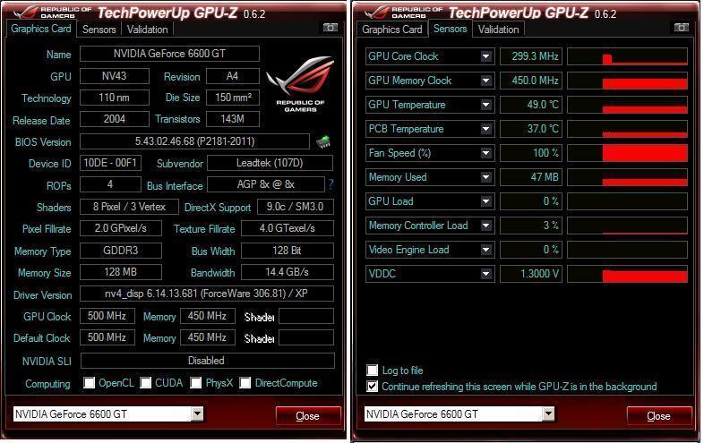 VGA AGP 6600 GT 128 MB 12BIT MURAH DDR 3 LIKE NEW