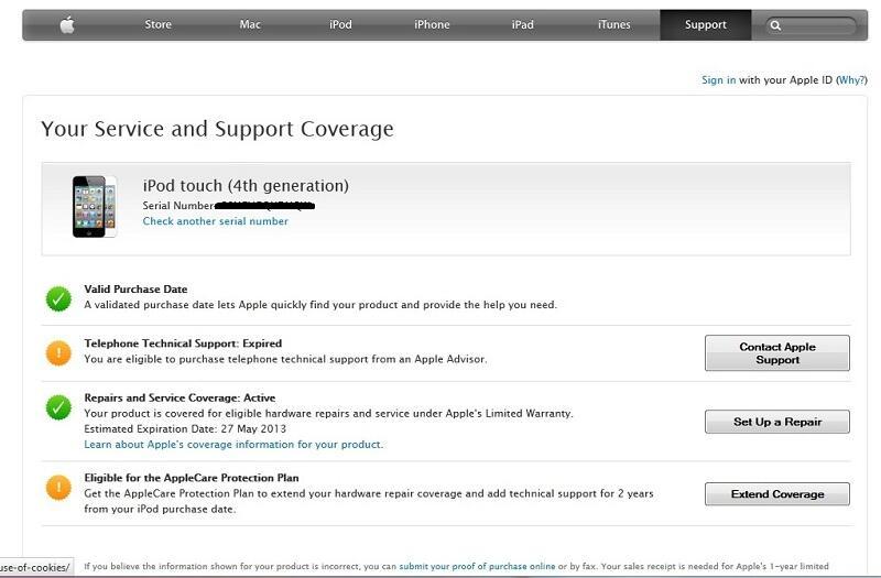 jual Ipod touch white 8gb garansi sampai Mei 2013 mulus