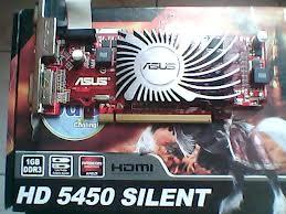 10 unit VGA Asus HD 5450 1 GB DDR 3, lengkap dus & cd