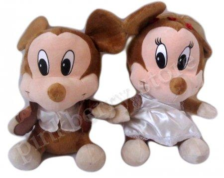 Boneka Mickey dan Minnie Wedding