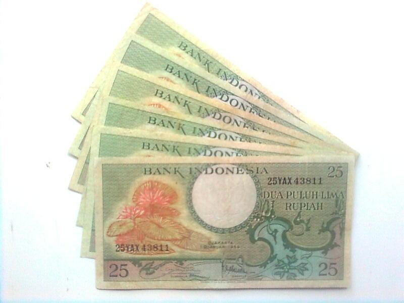 uang kuno 25 rupiah tahun 1959