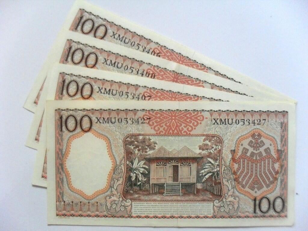 uang kuno 100 rupiah tahun 1958