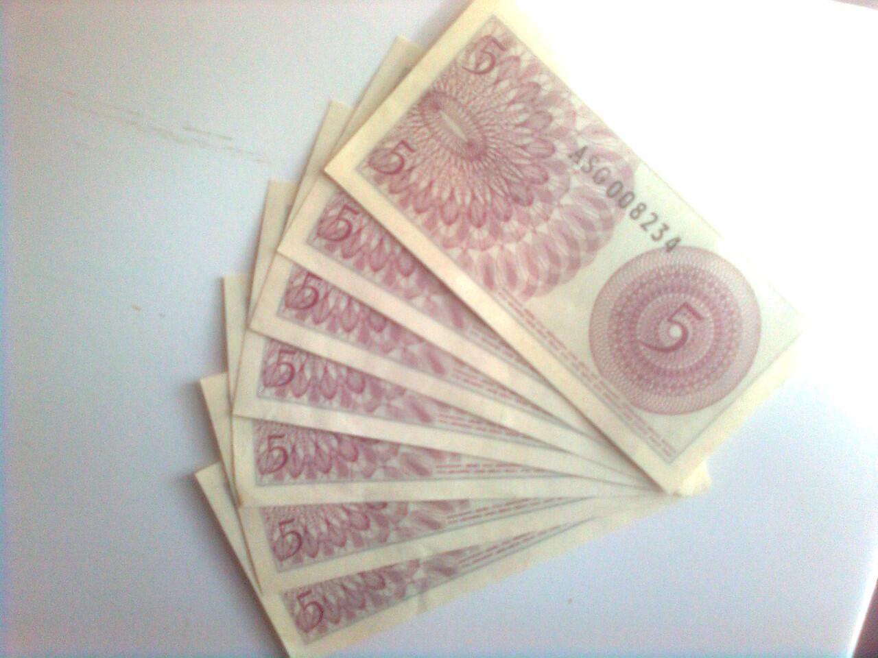 uang kuno 5 sen tahun 1964