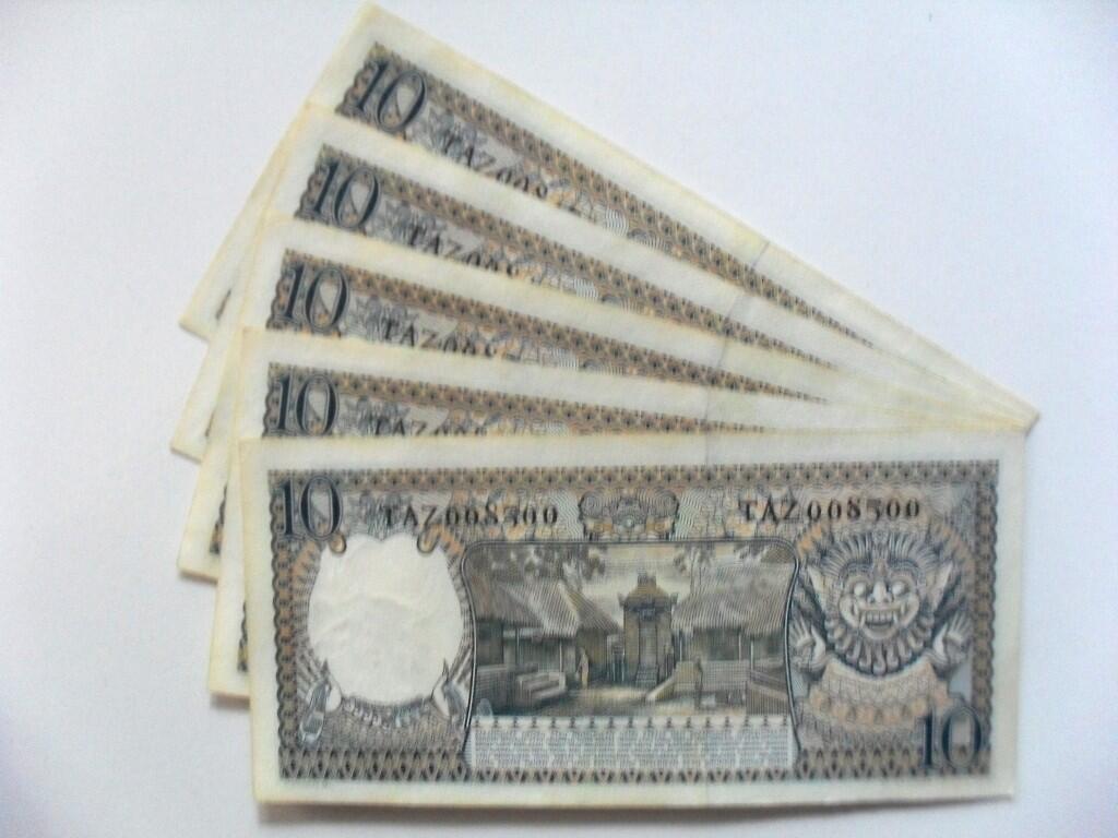 uang kuno 10 rupiah tahun 1958