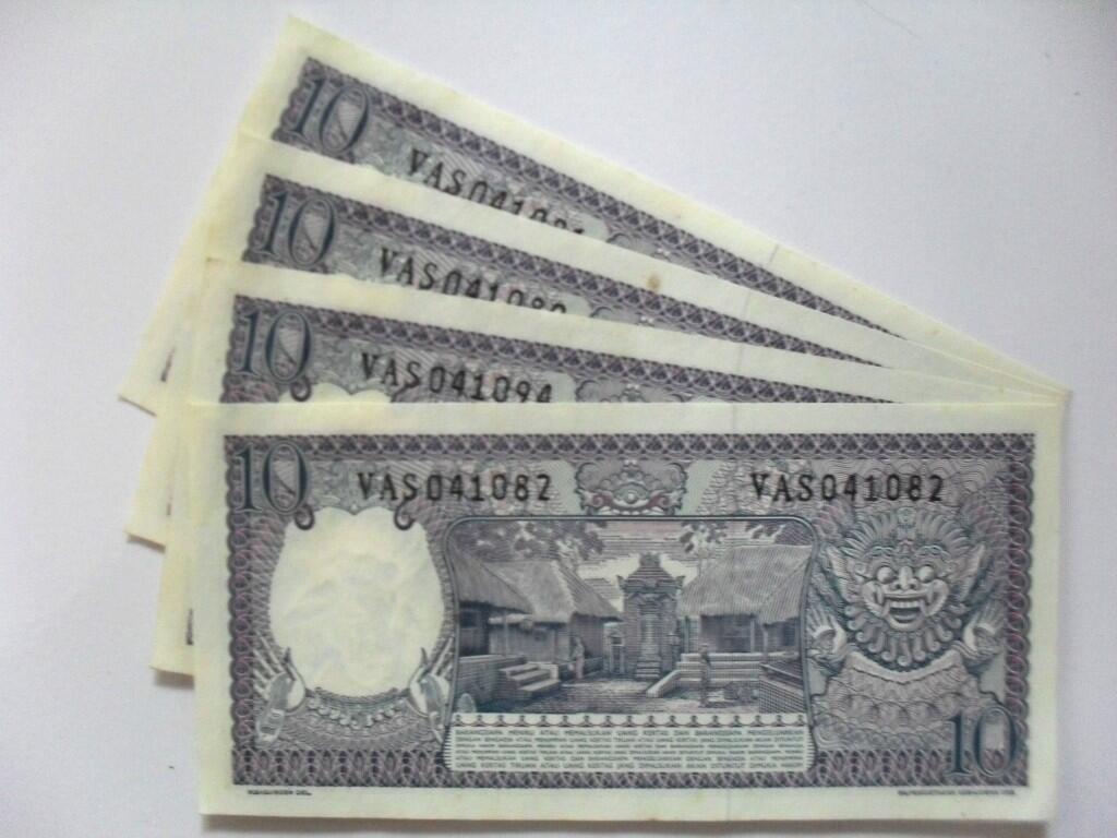 uang kuno 10 rupiah tahun 1963