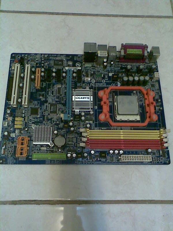 "Motherboard AMD AM2+ GIGABYTE Series GA-MA69G-S3H+Prosessor 5000Ghz Athlon""64x2"