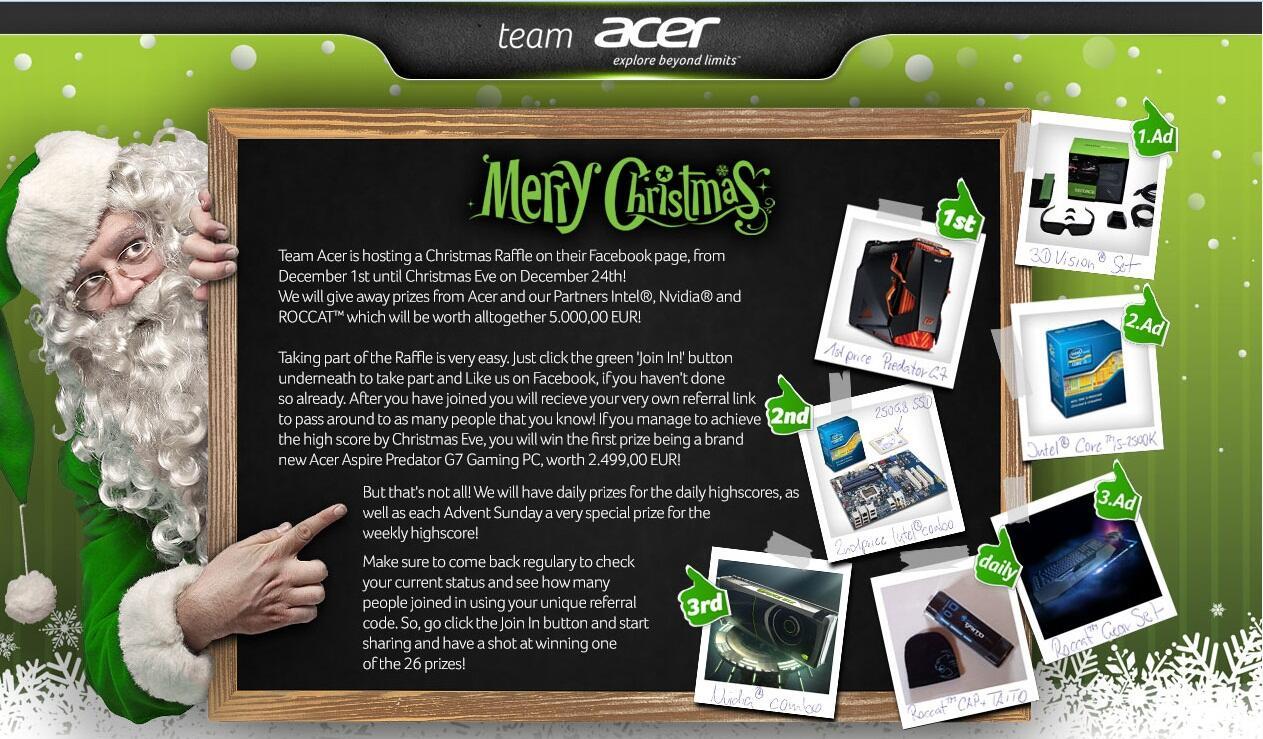 Hadiah keren gratisan dari Team Acer