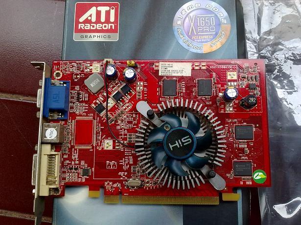 VGA PCIe HIS ATI X1650Pro ~ 512MB 128bit DDR2
