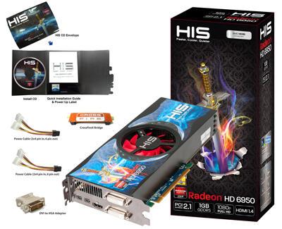 HIS ATI Radeon 6950 1GB