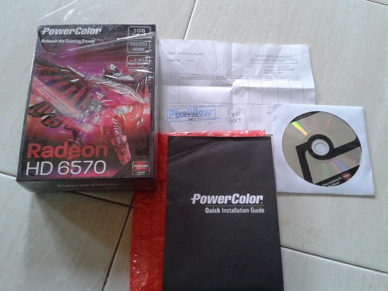 PowerColor Radeon HD 6570 1GB DDR3 [Bandung]