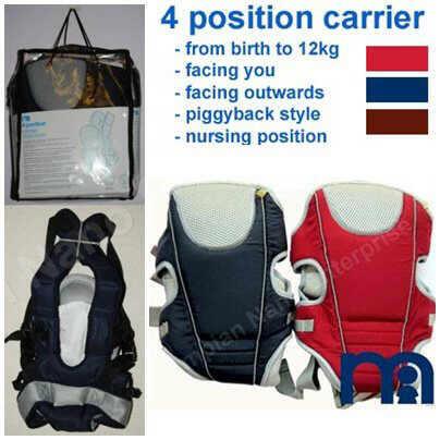 Gendongan bayi/baby carrier Mothercare 4 in 1.Safety&nyaman untuk anak&ibunya.Murah