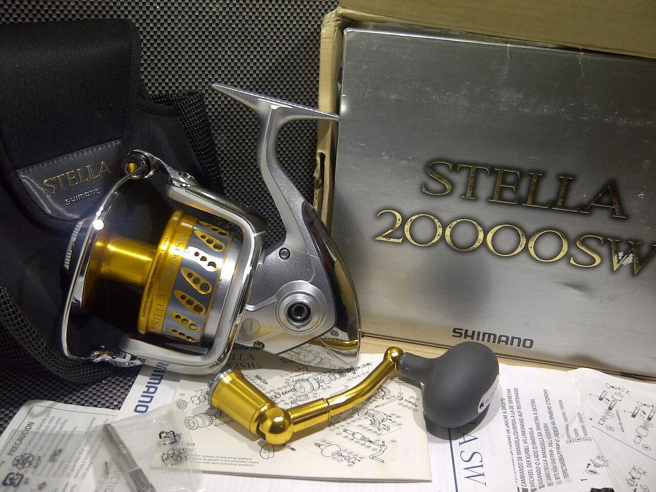 Terjual Reel Pancing Shimano Stella 20000SW 2nd murah