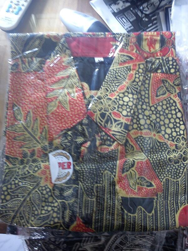Kemeja batik bola murah (Jember)