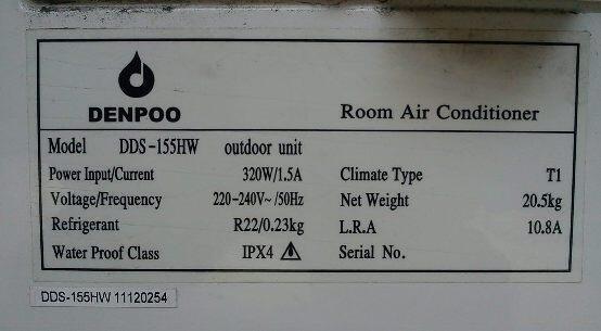 AC SPLIT DENPOO 0,5PK 320 watt GARANSI